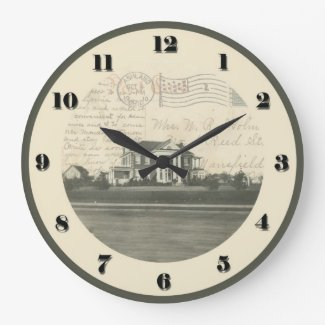 Ashland, Ohio Post Card Clock - Samaritan 1910