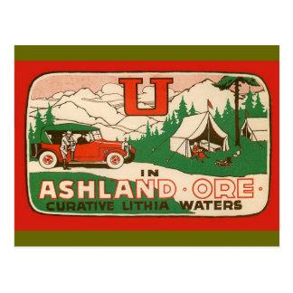 Ashland Oregon Tarjeta Postal