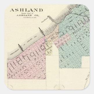 Ashland y Menomonie, WIS Pegatina Cuadrada
