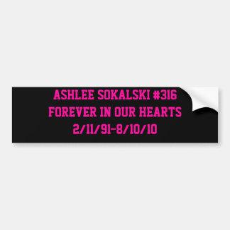 Ashlee Sokalski Bumpersticker Bumper Sticker