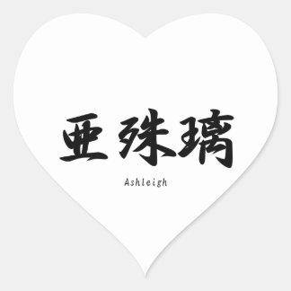 Ashleigh translated into Japanese kanji symbols. Stickers