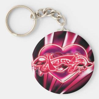 Ashley Basic Round Button Keychain