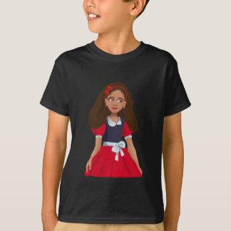 Ashley Cartoon girl Kids Dark T-Shirt