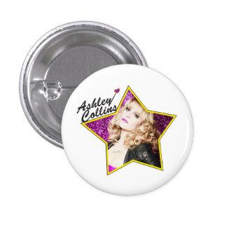 Ashley Collins protagoniza la insignia del Pin Pin Redondo 2,5 Cm