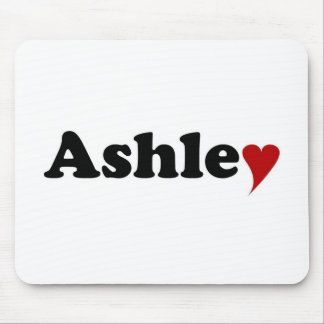 Ashley con el corazón alfombrilla de raton