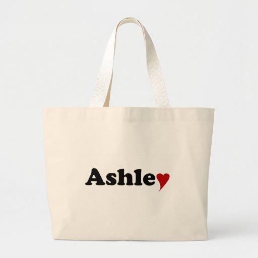 Ashley con el corazón bolsa de mano