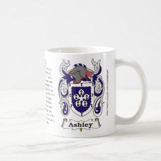 Ashley, el origen, significado y el escudo taza de café