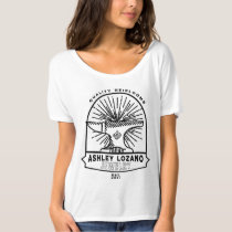 Ashley Lozano Jewelry Black Anvil Design T-Shirt