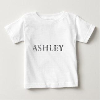Ashley, Name, Damask, pattern, Black and white Baby T-Shirt