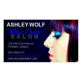 Ashley para el salón azul de la silla tarjetas de visita