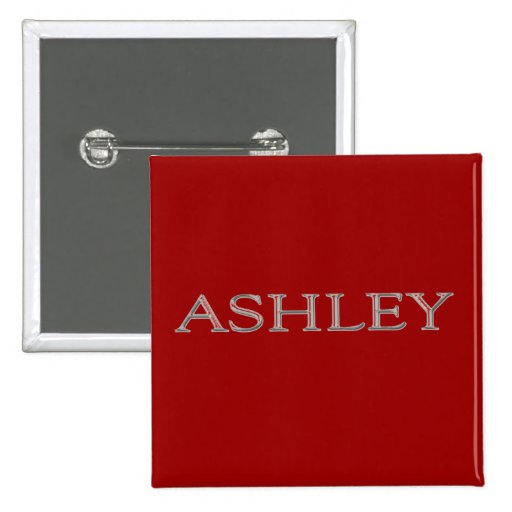Ashley personalizó nombre pins