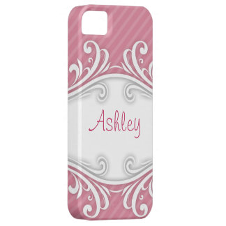 Ashley Pink Striped iPhone Case Personalized