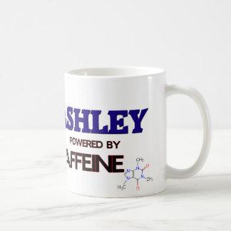 Ashley powered by caffeine coffee mug