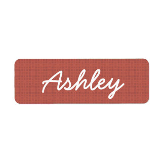 ASHLEY Rose Pink Custom Name Gift Collection Label