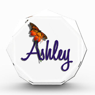 Ashley with Butterfly Award
