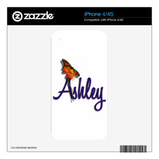 Ashley with Butterfly iPhone 4 Skins