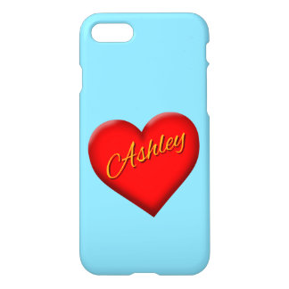 Ashley with Heart iPhone 7 Case