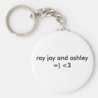 ASHLEY Y RAYO JAY LLAVERO REDONDO TIPO PIN