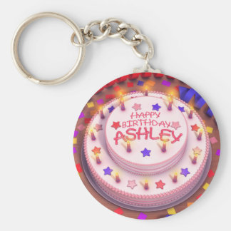 Ashley's Birthday Cake Keychain