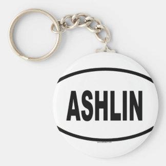 ASHLIN BASIC ROUND BUTTON KEYCHAIN