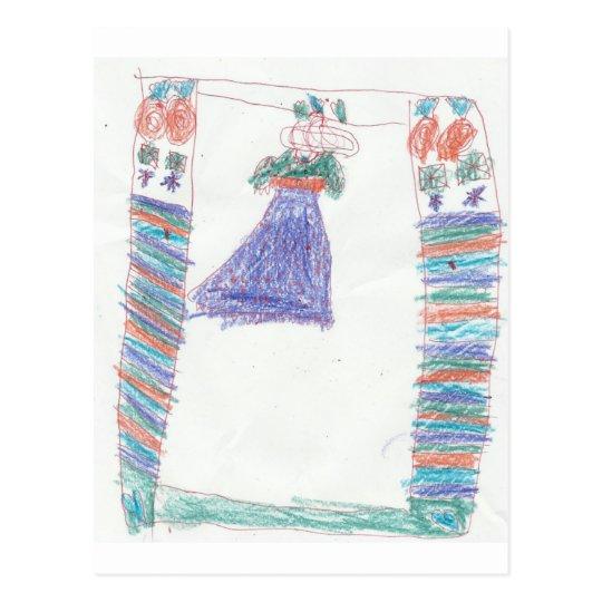 Ashli's-Princess-Dress Postcard