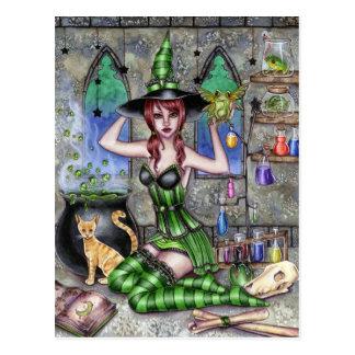 Ashlyn - postal de la bruja de la poción
