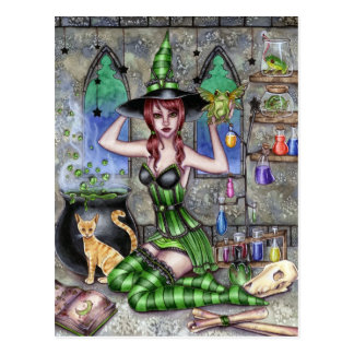 Ashlyn - Potion Witch Postcard