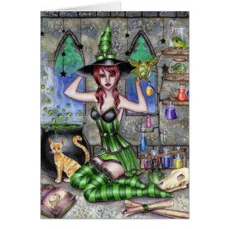 Ashlyn - tarjeta de la bruja de la poción