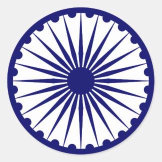 Ashoka Chakra, bandera de la India Pegatina Redonda