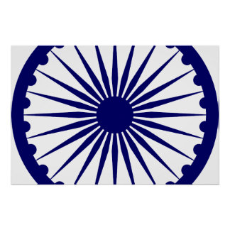 Ashoka Chakra, India flag Poster