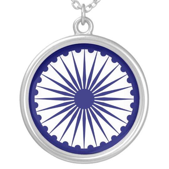 Ashokas dharma chakra necklace zazzle ashokas dharma chakra necklace aloadofball Choice Image