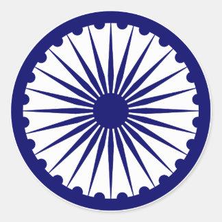 Ashoka's Dharma Chakra Round Stickers