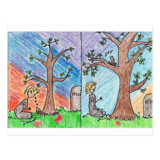 Ashputtel y el árbol mágico postales