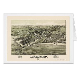 Ashtabula Harbor, OH Panoramic Map - 1896 Greeting Cards