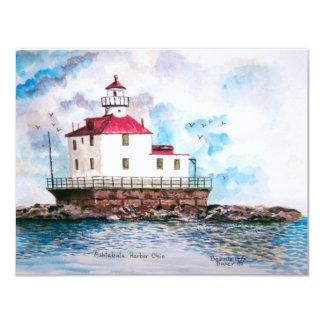 Ashtabula lighthouse 1995 card