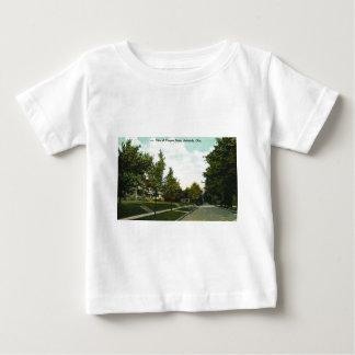 Ashtabula Ohio Prospect Street Postcard 1910s Baby T-Shirt