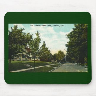 Ashtabula Ohio Prospect Street Postcard 1910s mousepad