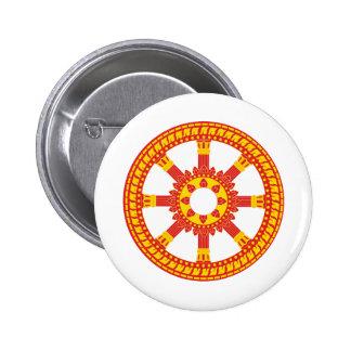 Ashtamangala Symbol Dharmachakra Wheel of Dharma Pinback Buttons