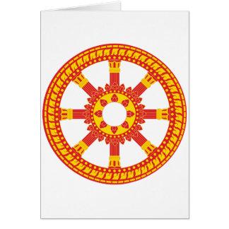Ashtamangala Symbol Dharmachakra Wheel of Dharma Card