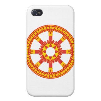 Ashtamangala Symbol Dharmachakra Wheel of Dharma Cover For iPhone 4