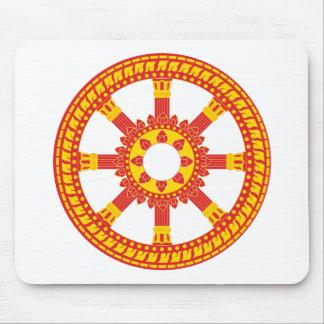Ashtamangala Symbol Dharmachakra Wheel of Dharma Mouse Pad