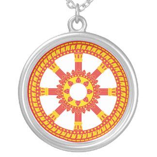 Ashtamangala Symbol Dharmachakra Wheel of Dharma Necklace