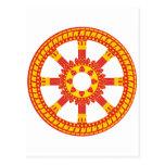 Ashtamangala Symbol Dharmachakra Wheel of Dharma Post Card