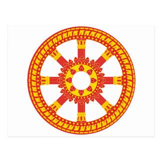 Ashtamangala Symbol Dharmachakra Wheel of Dharma Postcard