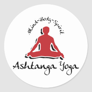 Ashtanga Yoga Classic Round Sticker