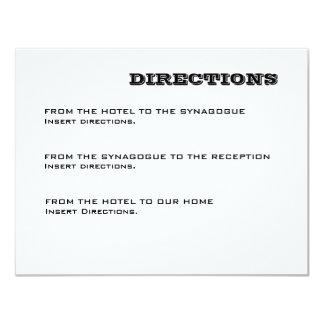 Ashton Bar Mitzvah Directions Card
