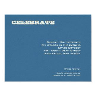 Ashton Bar Mitzvah Reception Card