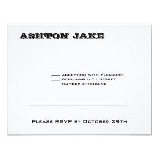 Ashton Bar Mitzvah RSVP Card