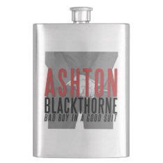 Ashton Blackthorne Flask at Zazzle