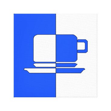 cloudsendgallery Ashton Blue and White Cup Canvas Print